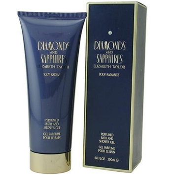 Diamonds & Sapphires By Elizabeth Taylor For Women, Shower Gel, 6.8-Ounce Bottle