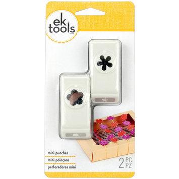 Ek Success Ltd. Slim Mini Paper Punches 2/Pkg-Flower & Retro Flower