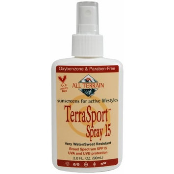 All Terrain TerraSport SPF15 Natural Sunscreen Spray (3- Ounce)