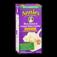 Annie's Homegrown Rice Shells & Creamy White Cheddar Gluten Free Macaroni & Cheese