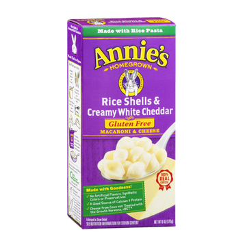 Annie's Homegrown Rice Shells & Creamy White Cheddar Gluten Free Macaroni & Cheese