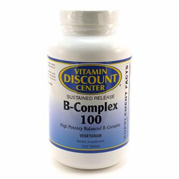 B-complex 100 Sustained Release By Vitamin Discount Center 250 Tablets Vitamin B