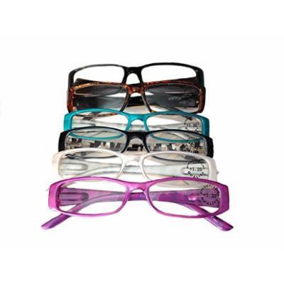 Designer Women's Plastic Reading Glasses Pack of 6 Bombshell 2