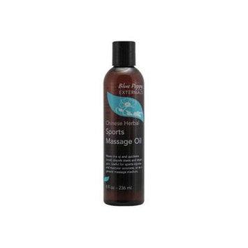 Chinese Herbal Sports Massage Oil - Blue Poppy, 8 Fl Oz -236ml