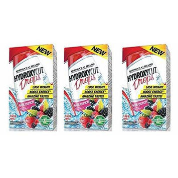 Hydroxycut Drops Plus Green Coffee 200mg Fruit Punch, For Weight Loss - 1.62 Oz (Pack of 3)