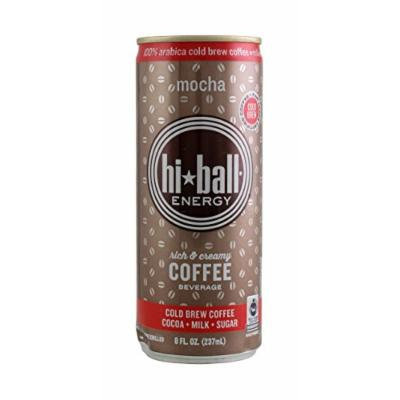 Hi*ball Energy 8 Oz (Pack of 12) (Mocha)