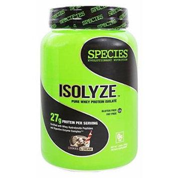 Species Nutrition Isolyze Cookies & Cream 22 servings