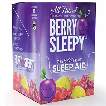 Berry Sleepy All Natural Melatonin from The 100% Fruit Sleep Aid, 12 Servings