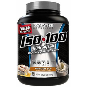 Dymatize ISO-100 Hydrolyzed 100% Whey Protein Isolate - Cinnamon Bun - 3 LBS