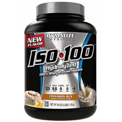 Dymatize ISO-100 Hydrolyzed 100% Whey Protein Isolate - Cinnamon Bun - 3 LBS