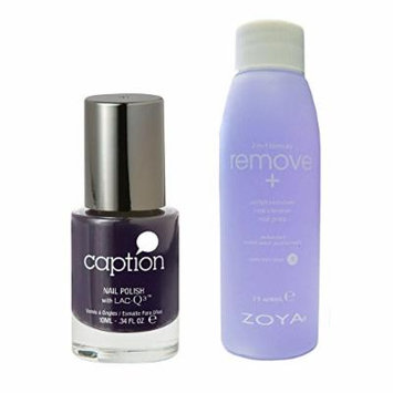 Bundle of Two Items: Caption Nail Polish in Never Ask Permission .34 oz with Nail Polish Remover 2 oz