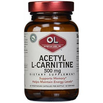 Olympian Labs Acetyl L-carnitine, 500mg (Pack of 12)