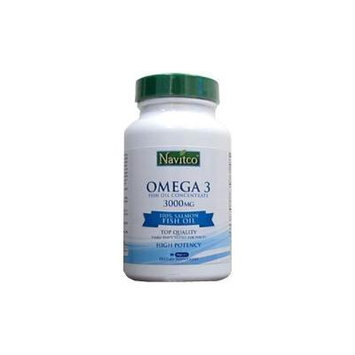 Navitco Omega-3 Salmon Fish Oil Concentrate 3000 Mg - 90 VegaGels