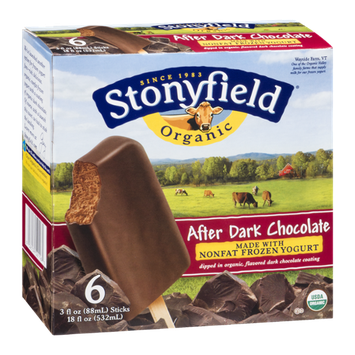 Stonyfield Organic Nonfat Frozen Yogurt After Dark Chocolate - 6 CT
