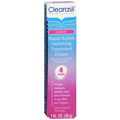 Clearasil Ultra Rapid Action Treatment Cream, Vanishing, 1 oz