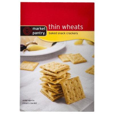 market pantry Market Pantry Thin Wheats Baked Snack Crackers 10 oz