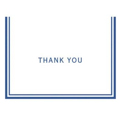 Gartner Studios Blue Bulk Thank You Cards 50ct