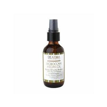 Shea Terra Organics 100% Pure Moroccan Argan Oil, Certified Organic 2 oz (59 ml)