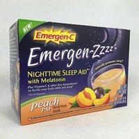 Emergen-C Emergen-zzzz Nighttime Sleep Aid with Melatonin, Peach 24 ea Pack of 5