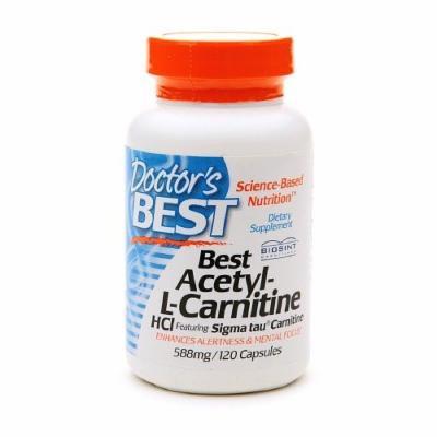Doctor's Best Best Acetyl-L-Carnitine HCl, 588mg, Veggie Caps 120 ea