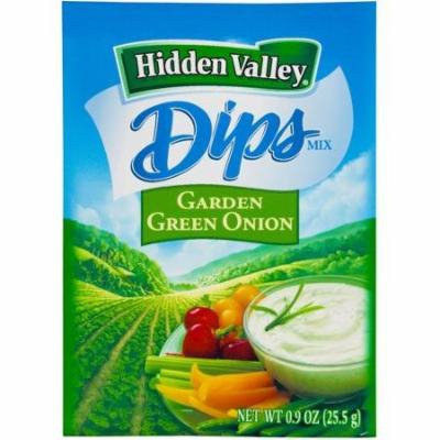 Hidden Valley Dips Mix, Garden Green Onion, 0.9 Ounce (Pack of 6)
