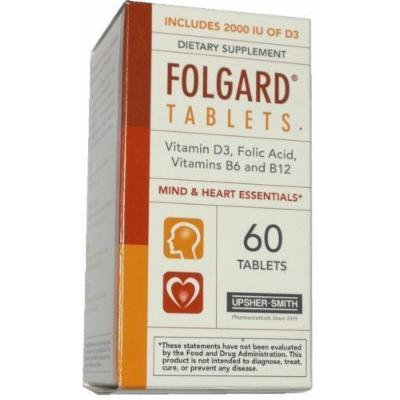 Folgard Dietary Supplement Tablets, 60 Each Pack of 4