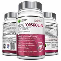 40% FORSKOLIN COMPLEX 300MG Per Serving - 90 Veggie Caps - Standardized to 40% Coleus Forskohlii Root Extract - Supports Lean Muscle Building & Helps Control Hunger