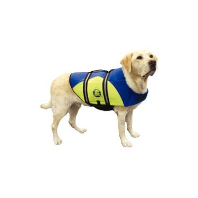 Hunter Manufacturing Hunter K9 Designs BY1300 Small Neoprene Doggy Life Jacket - Blue and Yellow