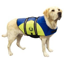 Hunter Manufacturing Hunter K9 Designs BY1100 XX Small Neoprene Dog Life Jacket - Blue and Yellow