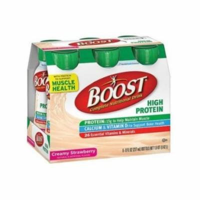 Boost Creamy Strawberry High Protein Drink, 8 Fluid Ounce - 6 per pack -- 4 packs per case.