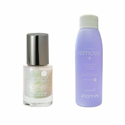 Bundle of Two Items: Caption Nail Polish Top Effect in Keep Cool Under Pressure .34 oz with Nail Polish Remover 2 oz
