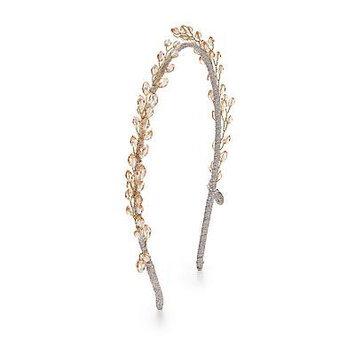 Jane Tran Crystal Wreath Headband - Gold