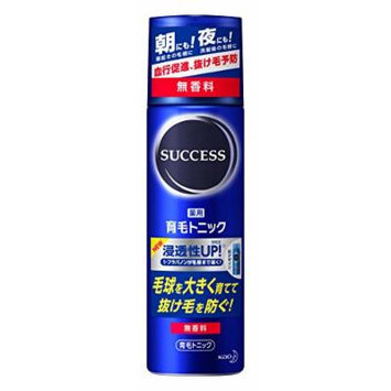 Kao SUCCESS Medicated hair growth tonic fragrance-free (180g)