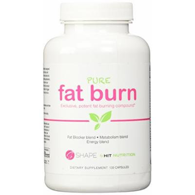 HIT Shape Pure Fat Burn, Natural Metabolism & Potent Fat Blocking Thermogenic Blend with Green Coffee and Garcinia Cambogia, 135 Capsules