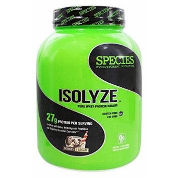 Species Nutrition Isolyze Cookies & Cream 44 servings, 3.1lb