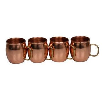 Jodhpuri Inc Moscow Mule Copper Shot Mugs 4 Pc set