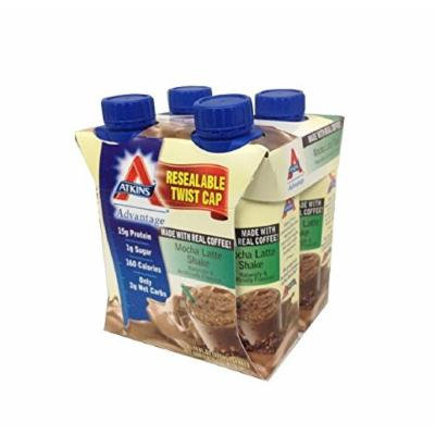 Atkins Ready To Drink Shake, Mocha Latte, 4x11oz Shake (Pack of 6) 24 Total Shakes