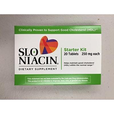 Slo-Niacin, Starter Kit, 250mg each, 20 Tablets