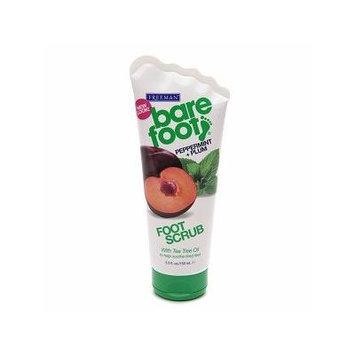 Freeman Bare Foot Creamy Pumice Foot Scrub, Invigorating Peppermint & Plum 5.3 oz