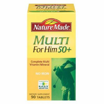 Nature Made Multi for Him 50+, Complete Multi Vitamin/Mineral, Tablets 90 ea