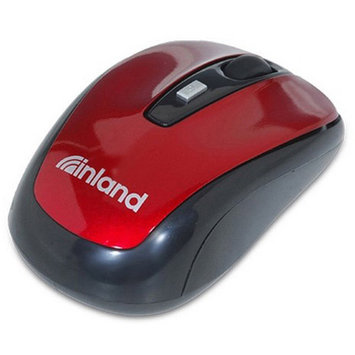 Inland 07444 Wireless Optical Mouse, Burgundy