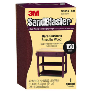3M SandBlaster Dual Angle Sanding Sponge, 150 grit, Open Stock