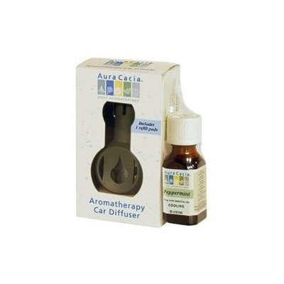 Aura Cacia, Aromatherapy Car Diffuser With Peppermint Oil 1 Diffuser