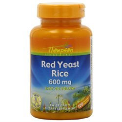 Red Yeast Rice 600mg 100 caps, Thompson Nutritional Products