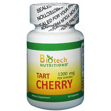 Biotech Nutritions Tart Cherry Vegetable Capsules, 1200 mg Serving, 60 Capsules