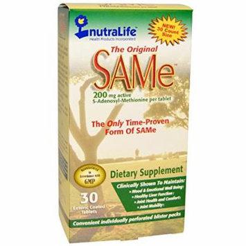 NutraLife The Original SAMe 200 Mg - 30 Tablets