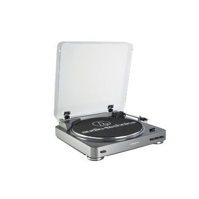 Audio Technica AT-LP60 Fully Automatic Stereo Turntable System, Silver [Silver]
