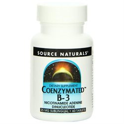 Source Naturals Coenzymated B-3 - 60 Sublingual Tablets - Niacin