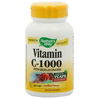 tures Way Vitamin C 1000 with Bioflavonoids, 100 Vcaps, Nature's Way