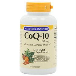 tures Answer Nature's Answer - CoQ-10 50 mg. - 60 Softgels
